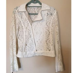 Cute White Lace Crop Jacket RD Style